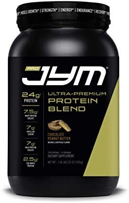 Pro Jym Protein Powder – Egg White, Milk, Whey Protein isolates Micellar Casein JYM Supplement Science Chocolate Peanut Butter Flavor, 2 Lb