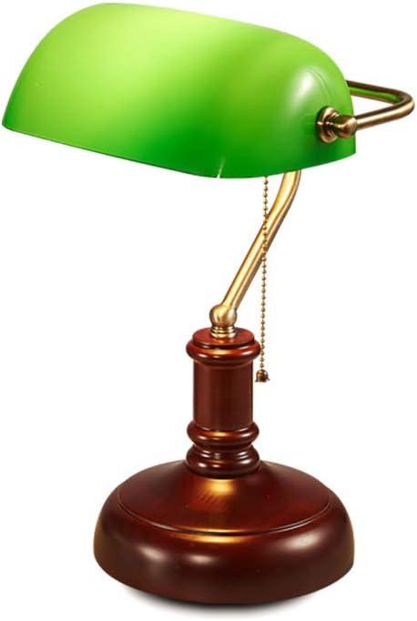 Lámpara de mesa 14 x 42 cm E27 lámpara de escritorio de banquero ...