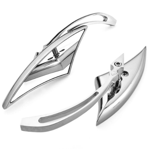 2x Chrome Billet Spear Blade Rear View Side Mirror For Motorcycle Cruiser Chopper Honda Shadow Yamaha V Star