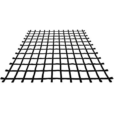 Fong 10 ft X 10 ft Climbing Cargo Net Black Heavy Duty -Obstacle Climbing Net Outdoor - Cargo Net for Climbing Wall - Both for Kids and Adults: Sports & Outdoors
