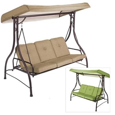 Garden Winds Lawson Ridge 3-Person Swing Replacement Canopy Top Cover- RipLock 350 : Garden & Outdoor