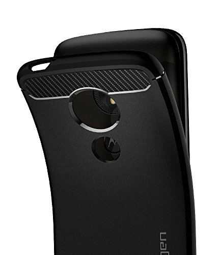 Spigen Rugged Armor Moto E5 Play Case with Flexible and Durable Shock Absorption with Carbon Fiber Design for Motorola Moto E5 Play (2018) - Black by Spigen (Image #3)