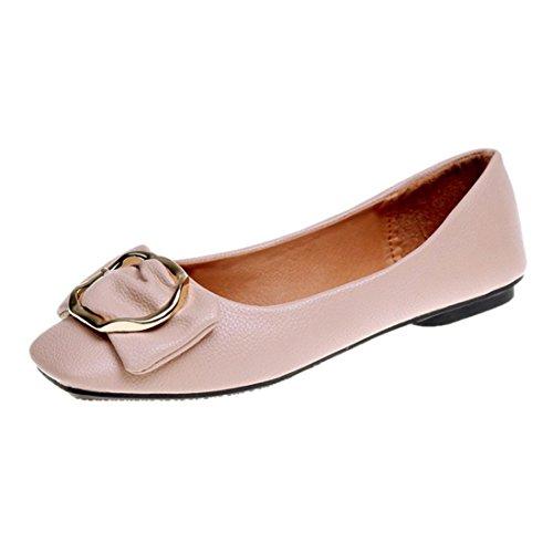 Chaussures Bas Beige Talons Bowknot Chaussures Saihui À Simples Ont Boucle Peu Profonde Carrée Souligné Femmes qYgWUZnU