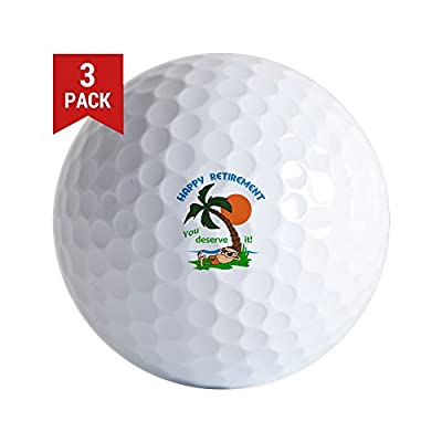 CafePress - HAPPY RETIREMENT Golf Ball - Golf Balls (3-Pack), Unique Printed Golf Balls