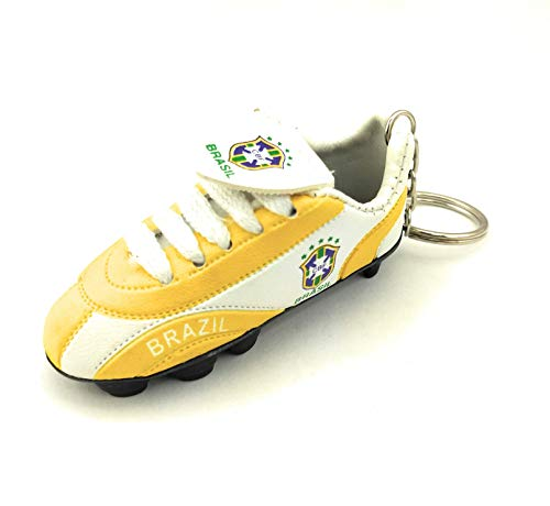 Mini Soccer Cleat KeyChain (Brasil) - Chain Ball Hat And