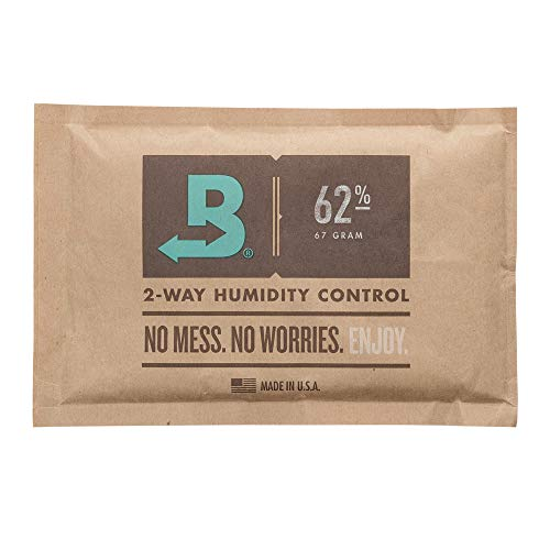 Boveda 62% RH 67 Gram, Patented 2-Way Humidity Control, (1) 4-Pack, Unwrapped, Resealable Bag; Up to 1 lb. (450g) of Cannabis, Terpene Protector, Ideal for Slightly Drier Buds, Joints/pre-Rolls ()