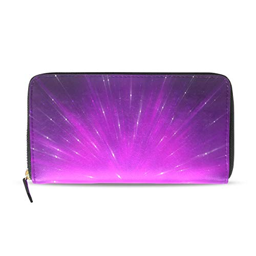 Womens Wallets Violet Fractal Composition Leather Passport for sale  Delivered anywhere in USA