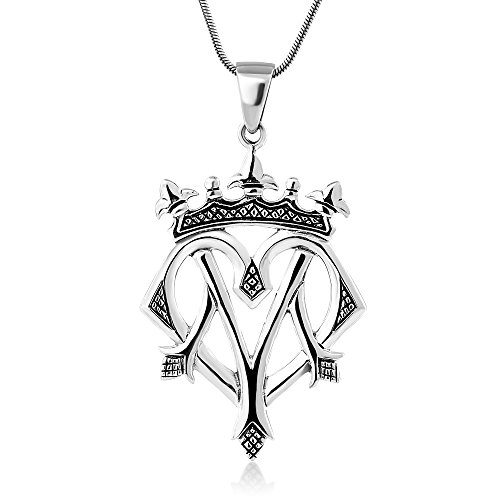 Chuvora 925 Oxidized Sterling Silver Celtic Heart Luckenbooth Scottish Love Pendant Necklace, 18 inches