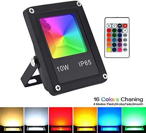 Waterproof RGB LED Outdoor 16 Color Changing Flood Spotlight Garden Patio Lamp