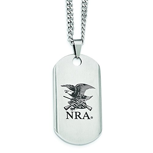 NRA Stainless Steel Eagle Dog Tag Necklace