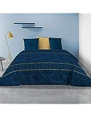Les Ateliers du Linge® - Parure de lit - Housse de Couette - House de Couette 220 x 240 - Parure de lit 100% Coton - Parure de lit avec Housse de Couette - Taies d'oreiller- 240 x 220 cm - Palace