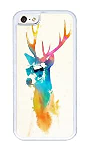 Apple Iphone 5C Case,WENJORS Awesome Sunny Stag Soft Case Protective Shell Cell Phone Cover For Apple Iphone 5C - TPU White