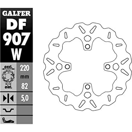 DF907W Galfer Solid Mount Wave Rotor