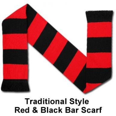 Red /& Black Bar Scarf