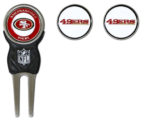NFL San Francisco 49ers Divot Tool Pack With 3 Golf Ball Markers