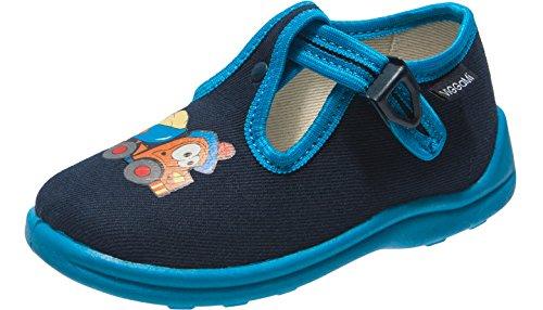 Viggami Niños Pantuflas con Hebilla Bambi Azul Oscuro