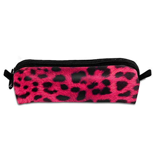 (Leopard-Print-Wallpaper-8 Pencil Bag Pen Case, Students Stationery Pouch Zipper Pen Case Box for Pens, Pencils Drawing Painting Children - High Capacity Cosmetic Bag)