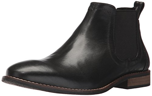 Nunn Bush Men's Hartley Side Gore Chukka Boot, Black, 8 W US (Side Leather Gore)