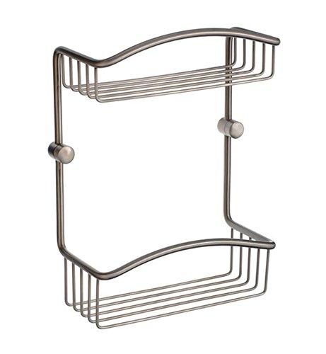 Smedbo Cabin 2 Level Soap Basket in Brushed Nickel Finish - Smedbo Brass Soap Dispenser