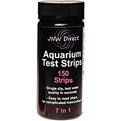 JNW Direct 7 in 1 Aquarium Test Strips, Best Kit for Accurate Water Quality Testing for Saltwater & Freshwater Aquariums and Fish Ponds, 150 Strip MEGA PACK