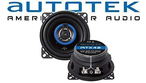 Installation Kit - Speaker Boxes Autotek ATX-42 U 2-Way 10 cm Coaxial Speaker 100 mm Car Installation Accessories Porsche Boxster 986