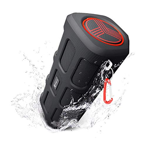 TREBLAB FX100 - Extreme Bluetooth Speaker - Loud, Rugged for Outdoors, Shockproof, Waterproof IPX4, Built-In 7000mAh Power Bank, HD Audio w/ Deep Bass, Portable Wireless Blue Tooth Microphone Mic (Bluetooth Speaker Extreme)