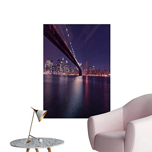 SeptSonne Wall Decals Brooklyn Bridge in The Dark Environmental Protection Vinyl,24