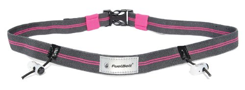 - FuelBelt Rock n Roll Collection Reflective Race Number Belt, Hibiscus/Carbon, One Size