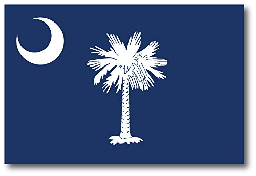 South Carolina Car Magnet US State Flag Refrigerator Locker SUV Heavy Duty Waterproof