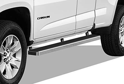 (APS iBoard (304 Stainless Steel Polished Silver 5 inches) Running Boards | Nerf Bars | Side Steps | Step Rails Compatible with 2015-2019 Chevy Colorado/GMC Canyon Crew Cab Pickup 4-Door)