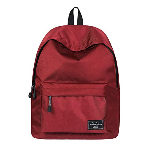 GJF Ladies Student Backpack, Lightweight and Cute Outdoor Travel Travel Bag, Can Put A4 Paper -14 Inch Laptop Rucksack, Large-Capacity Shopping Bag-red (Best Girlfriend Getaways 2019)