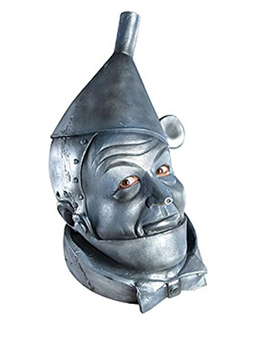 Wizard of Oz Deluxe Latex Mask, Tin Man, Silver, One Size]()