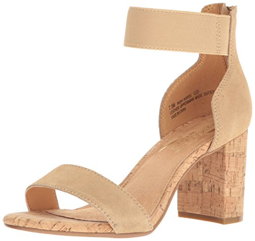 Aerosoles Women's High Hopes Dress Sandal, Light Tan Combo, 12 M US