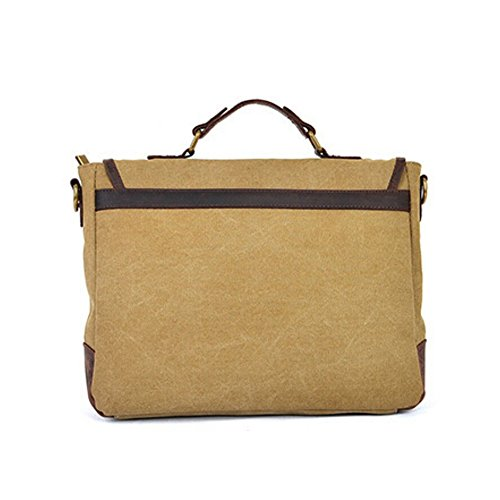 Messenger Cross Khaki Body Briefcase Canvas Green Shoulder Laptop Men Bag Women Paonies arm qSpgwIa
