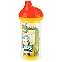 Nuby Insulated Vari-Flo Hard Spout Clik it Cup, 9 Months Plus, Green