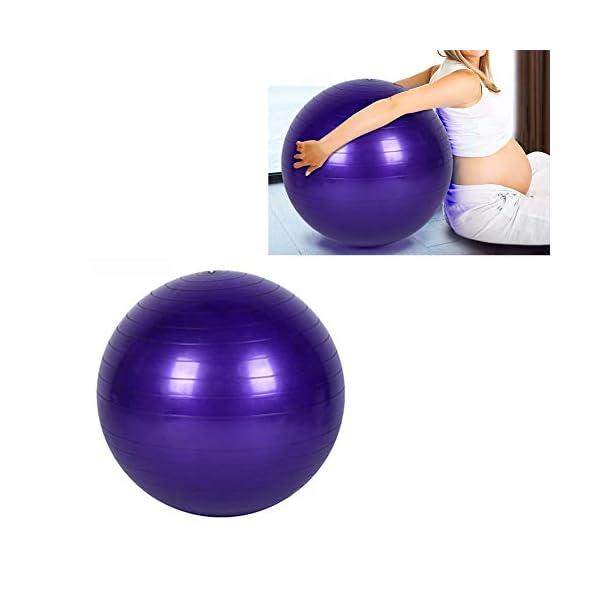 Yoga Fitness Ballon Exercice d'entraînement Équilibre Cours de Yoga Balle de Gymnastique de Base Gymball PVC 45cm / 17.7inch Violet accessoires de fitness [tag]