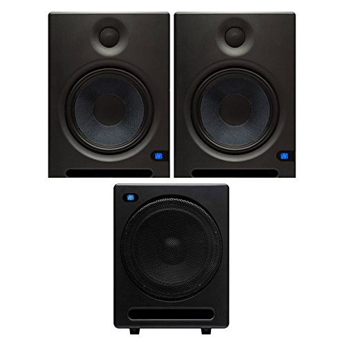 Presonus Eris E8 High-Definition 2-way 8' Near Field Studio Monitoring Speaker (Pair) with Temblor T10 Active 10