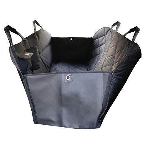 GUOWEIKD's store Comfortable safe Scratch Proof Nonslip Backing Seatbelt Leash Bag Universal Cars SUVs and Trucks Deluxe SedanComfortable soft pet car seat cushion 150x130CM (black)