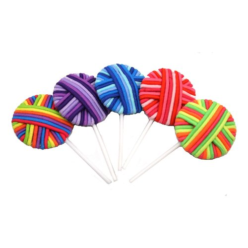 Lollibands Colorful Elastic 24 Hair Bands in Fun Pops ( Sold Seperately) -
