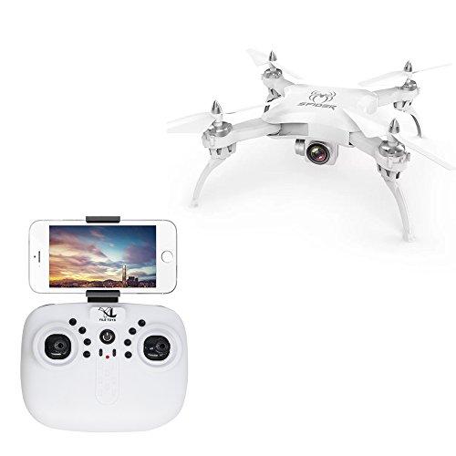 Koeoep S16 RC Quadcopter Drone con Cámara HD, Presión de Aire Altitude Hold & Rolls sin Cabeza Sensor de Gravedad Helicopter (Blanco)