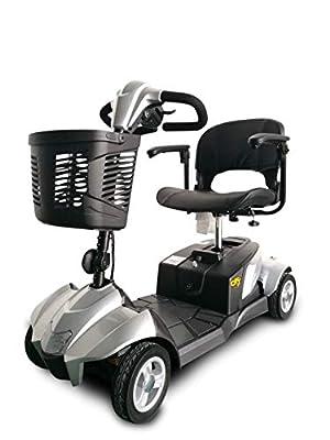 Ev Rider CityCruzer 4 Wheels Transportable Mobility Scooter, Silver