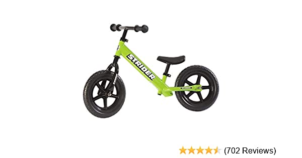 Amazon.com: Strider - 12 Classic No-Pedal Balance Bike, Ages 18 Months to 3 Years, Green: Sports & Outdoors