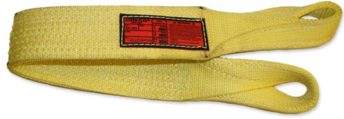 Stren-Flex-EET2-904-20-Type-4-Heavy-Duty-Nylon-Twisted-Eye-and-Eye-Web-Sling-2-Ply-12000-lbs-Vertical-Load-Capacity-20-Length-x-4-Width-Yellow