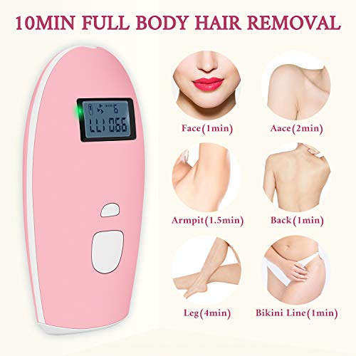 ChampionPlus Hair Removal for Women and Men Facial and Full Body 999,999 Flashes Permanent IPL Hair Removal Kit Home Painless Professional Laser Hair Remover Device