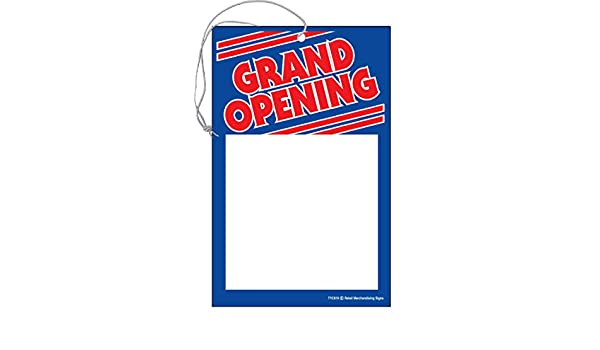 White and Blue Pack of 100 Cards Red 5 1//2 x 7 Business Store Signage CYB810Grand Opening Retail Price Cards Signs