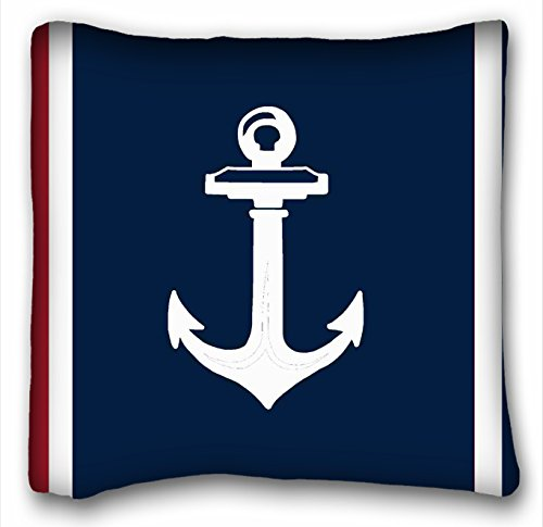 Tarolo Decorative Himoud Navy Blue Red Nautical Anchor Lumbar Pillowcase Throw Pillow Case Cases Cover Cushion Covers Sofa Size 20x20 Inches One (Tiger Butterfly Tattoo)