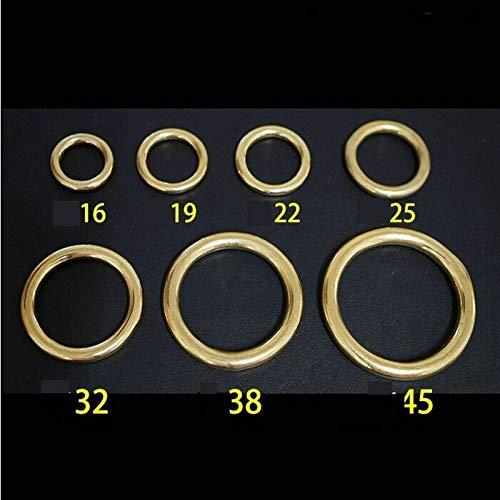 Ochoos 50PCS/LOT 45X58X6.5MM Brass Round O Ring Yellow Copper Forged and Seamless Hardware Accessories by Ochoos (Image #2)