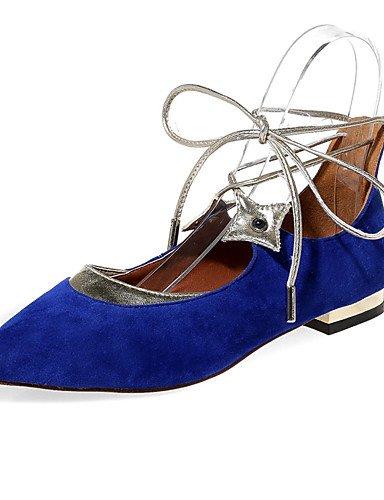 PDX/Damen Schuhe flach Ferse Mary/Ankle Strap/spitz Toe Wohnungen Outdoor/Kleid/Casual Schwarz/Blau/Rot black-us7.5 / eu38 / uk5.5 / cn38