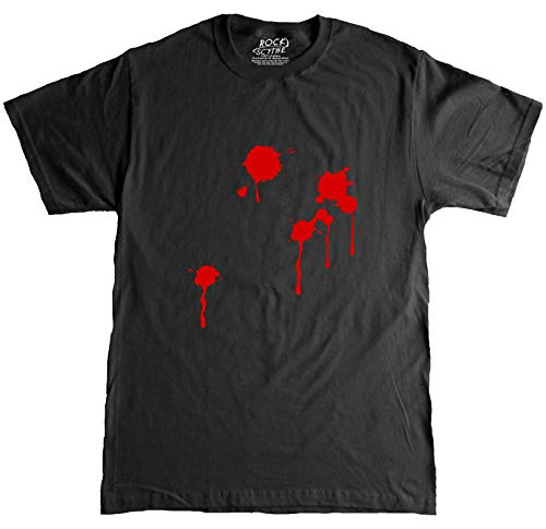 Rock Scythe -Blood Stained Halloween Costume Adult T-Shirt Tee - 3X-Large-Black/Red