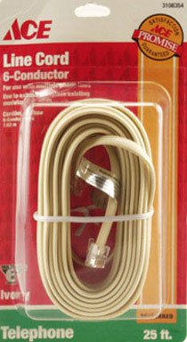 Round Phone Line Cord - Ace Modular Telephone Line Cord (3108354)